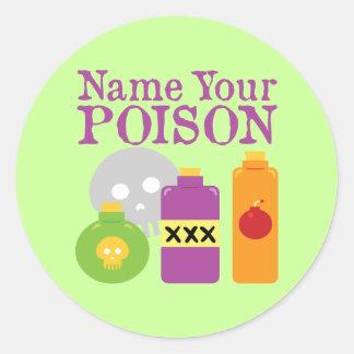 Name Your Poison Sticker