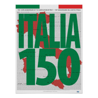 Name Your PrintItaly 150th Anniversary Poster