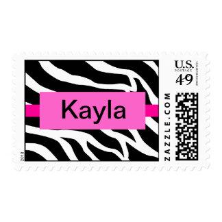 Name Zebra Custom Postage Stamp