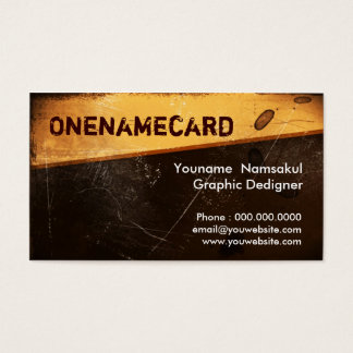 namecard-008 / grunge  Old  paper Business Card