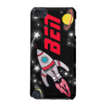 Named 3 letter space black red boys ipod case iPod touch 5G cases