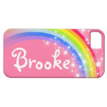 Named 6 letter rainbow red pink iphone 5 case