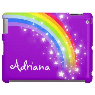 Named 7 letter rainbow purple girls ipad case