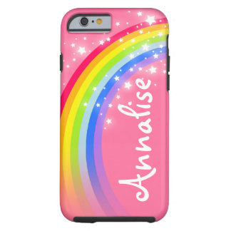 Named 8 letter rainbow red pink iphone case