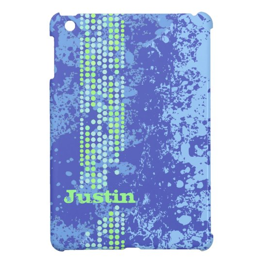 Named bright blue green surf style ipad mini cover
