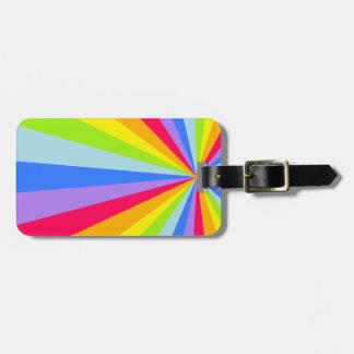Named bright rainbow rays cloud luggage tag