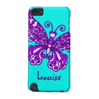 Named butterfly aqua purple ipod case