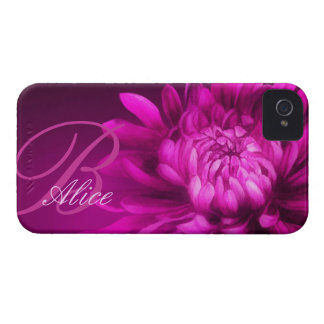 """named"" chrysanthemum mauve iphone4S barely case"