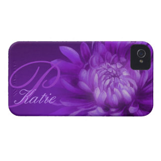 """named"" chrysanthemum purple iphone4S barely case"