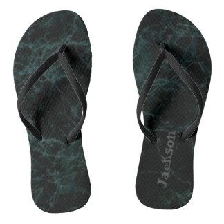 Named Dark Stone Flip Flops