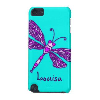 Named dragonfly aqua purple ipod case