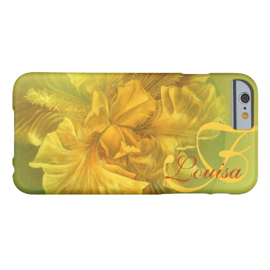 Named iris floral yellow art case