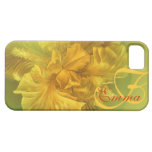 Named iris floral yellow art iphone5 case iPhone 5 case