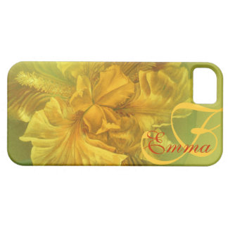 Named iris floral yellow art iphone5 case iPhone 5 cases
