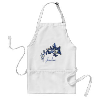 Named kaleidoscope of blue butterflies adult apron