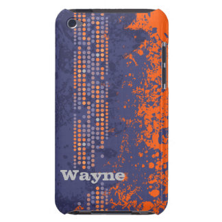 Named navy orange surf style ipod touch case