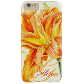 Named orange daylily floral iphone case