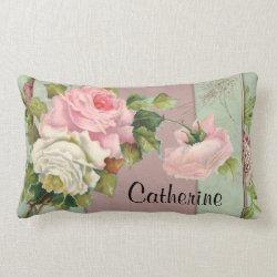 Named Pink Rose Throw Pillow