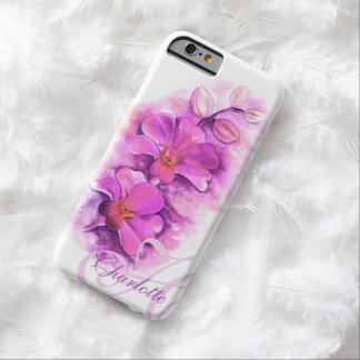 Named radiant Orchid art floral iphone case