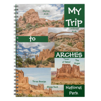 Named Rock Formations in Arches National Park Notebook
