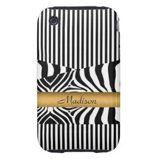Named Zebra and Stripes iPhone 3 Tough Covers