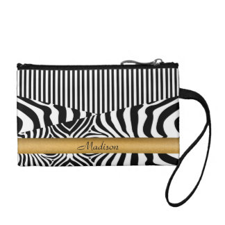 Named Zebra and Stripes Coin Purse