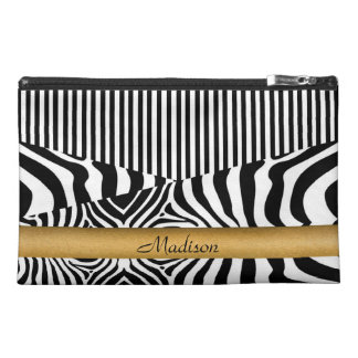 Named Zebra and Stripes Travel Accessory Bag