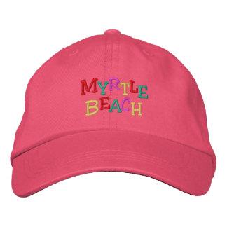 Namedrop la playa de Nation_Myrtle multicolora Gorra De Béisbol Bordada