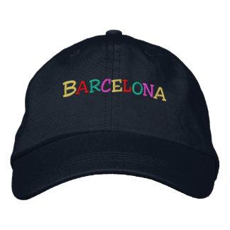 Namedrop Nation_Barcelona multi-colored Embroidered Baseball Cap