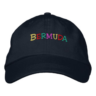 Namedrop Nation_Bermuda multi-colored Embroidered Baseball Hat