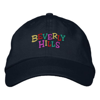 Namedrop Nation_Beverly Hills multi-colored Embroidered Baseball Cap