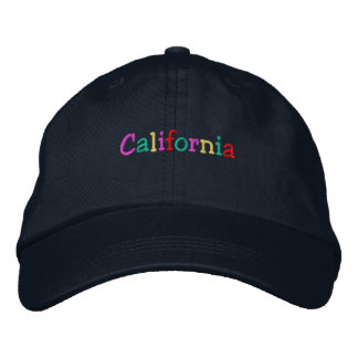 Namedrop Nation_California multicolored Embroidered Hats