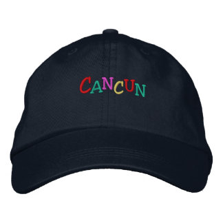 Namedrop Nation_Cancun multi-colored Embroidered Hats