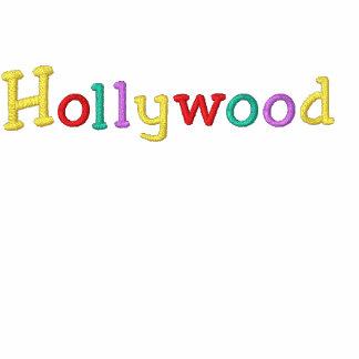 Namedrop Nation_Hollywood multicolor Sudadera Bordada Con Serigrafía