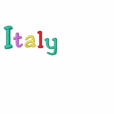 Namedrop Nation_Italy multicolor Sudadera Bordada Con Cremallera De Mujer