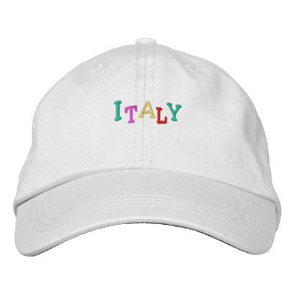 Namedrop Nation_Italy multicolored Embroidered Baseball Hat