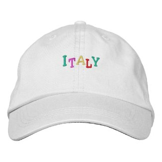 Namedrop Nation_Italy multicolored embroideredhat