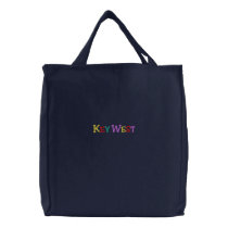 Namedrop Nation_Key West Multi-colored Embroidered Tote Bag