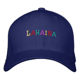 Namedrop Nation_Lahaina multi-colored Embroidered Baseball Cap