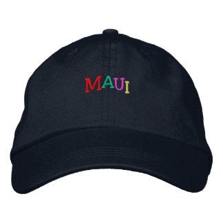 Namedrop Nation_Maui multi-colored Embroidered Baseball Caps