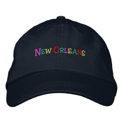 namedrop Nation_New Orleans multicolored Embroidered Hat
