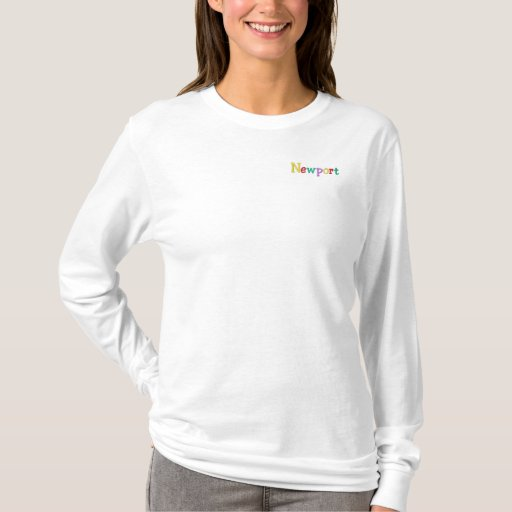 Namedrop Nation_Newport multi-colored Embroidered Long Sleeve T-Shirt