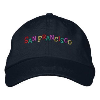 Namedrop Nation_San Francisco Multi-colored Embroidered Baseball Cap