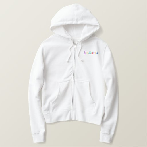 Namedrop Nation_St. Barts Multi-colored Embroidered Hoodie