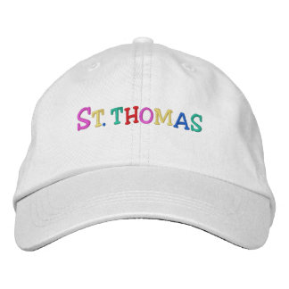 Namedrop Nation_St. Thomas multi-colored Embroidered Baseball Caps