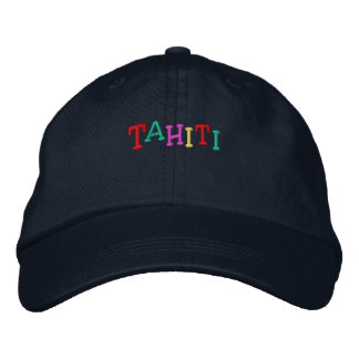 Namedrop Nation_Tahiti multi-colored Embroidered Baseball Cap