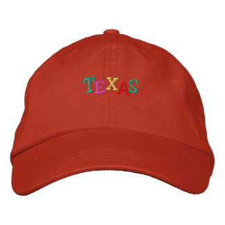 Namedrop Nation_Texas multicolored Embroidered Hats