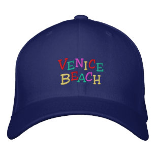 6130b74cf9 Namedrop Nation Venice Beach multi-colored Embroidered Baseball Cap