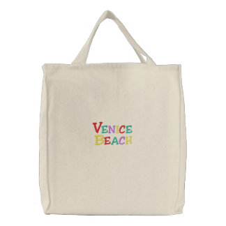 Namedrop Nation_Venice Beach Multi-colored Embroidered Tote Bag