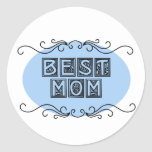Nameplate Best Mom T-shirts and Gifts Round Stickers